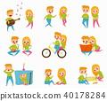 vector flat cartoon 40178284