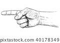 hand, pointing, illustration 40178349