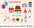birthday, birthdays, icon 40178391