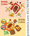 british, cuisine, vector 40178659