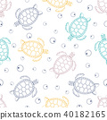 pattern with sea turtles 40182165