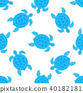 Seamless pattern with sea turtles. Cheloniidae. 40182181