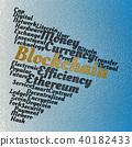 Blockchain wordcloud concept 40182433