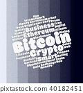 Bitcoin wordcloud concept 40182451