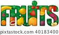 fruits banner inscription 40183400