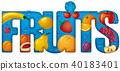 vector, fruits, illustration 40183401