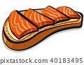salmon sandwich vector 40183495