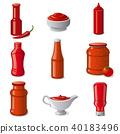 ketchup, vector, sauces 40183496