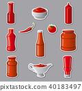 ketchup, vector, sauces 40183497