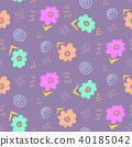 floral pattern violet 40185042