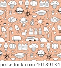 Background Pattern With Doodle Funny For Kids. 40189134