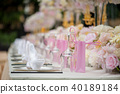 Wedding decoration with flowers on a table 40189184