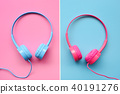 close up of headphones for background 40191276
