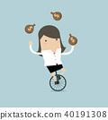 자전거, 여자, 사업가 40191308
