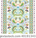 Indian seamless pattern. Wallpaper with Paisley. Ethnic style. Border ornament 40191343