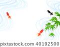 ปลาทองเมเปิ้ลในช่วงฤดูร้อนที่ร้อน 40192500