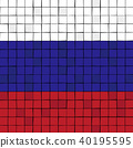 Card stunt or mosaic flag of Russia. 40195595