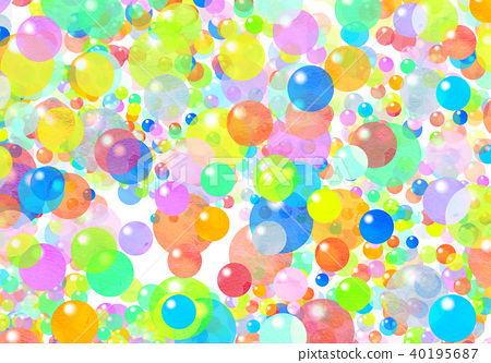 Watercolor colorful texture - Stock Illustration [40195687] - PIXTA