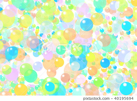 Watercolor colorful texture - Stock Illustration [40195694] - PIXTA