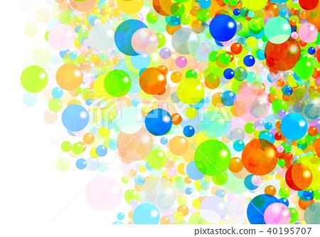 Watercolor colorful texture - Stock Illustration [40195707] - PIXTA