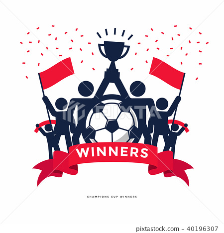 Stick Figures of The Winner Cup Soccer Champions. 40196307