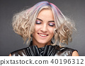 Portrait of young woman with trend dyed hair 40196312