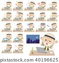 Arab Kandura wearing old men_desk work 40196625