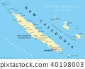 New Caledonia political map 40198003