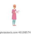 ribbon bald cancer 40198574