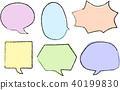 blowoff, speech bubble, hand drawn 40199830