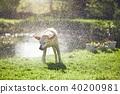 Dog shaking off water 40200981