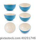 bowl, blue, pottery 40201746