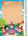 Kids party topic parchment 2 40202430