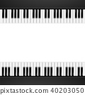 Piano Frame Background 40203050