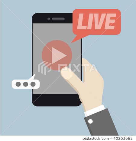 phone Live Streaming - Stock Illustration  40203065  - PIXTA 00c4560dc86