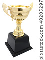golden trophy isolated 40205297