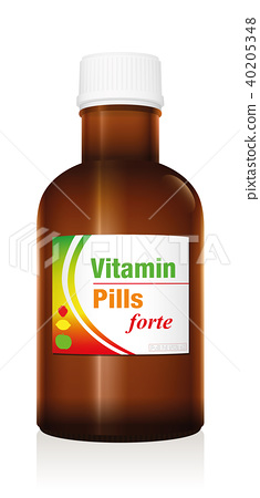 Vitamin Pills Medicine Bottle Vial 40205348