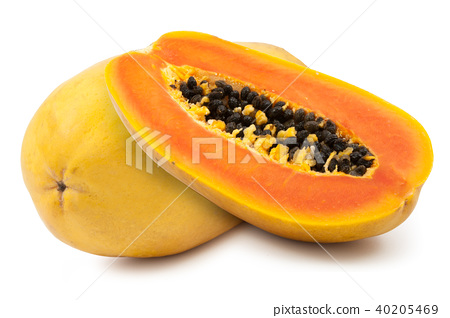 ripe papaya isolated 40205469