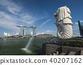 Merlion Park and Marina Bay Sands, Singapore 40207162
