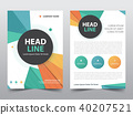 Abstract polygonal brochure poster flyer annual 40207521
