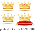 king royal golden crown vector illustration 40208088
