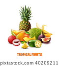 tropical fruit exotic 40209211