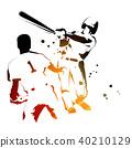 เบสบอล,กีฬาเบสบอล,คนตีลูก 40210129