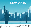 Statue of Liberty. New York landmark and symbol of Freedom and Democracy. Vector 40210141