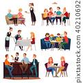 Restaurant And Pub Visitors Set 40210692