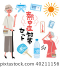 heatstroke, heatstroke prevention, vector 40211156