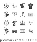 Soccer and Football icons. Sport game and Activity 40213119