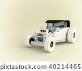 Vintage wooden toy car with clipping path 40214465