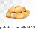 Realisic vector potatoes grope on transparent background. 40214724