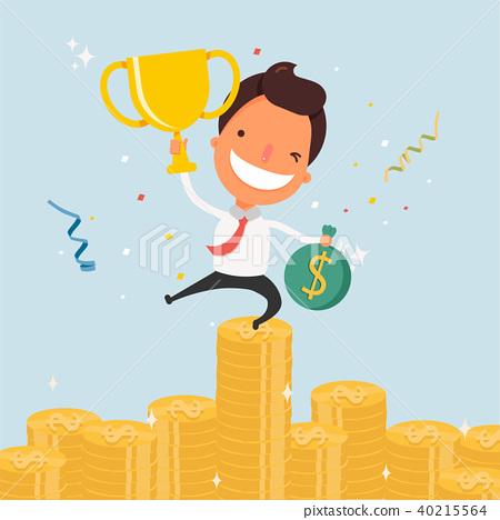 business cartoon character success stock illustration 40215564 pixta business cartoon character success